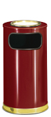 Model SO16SU-10C | Decorative European Series Crimson/Brass Sand Top Indoor Ash/Trash Receptacle