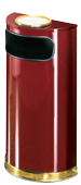 Model SO8SU-10C | Decorative European Series Crimson/Brass Half Round Indoor Ash/Trash Receptacle