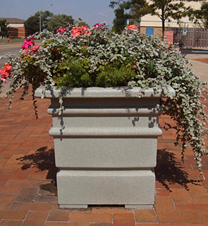 Model SP-C | Square Venus Planters (Granite Gray)