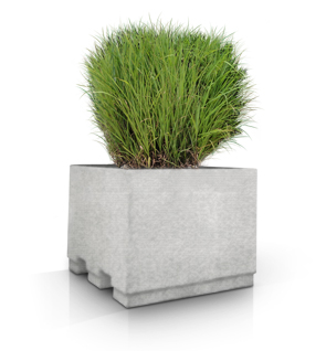 Model SP36NR-CUS2 | Concrete Security Planter (LSB White)