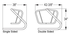 Quick Dimensions of Freestanding Spartan™ Bike Rack