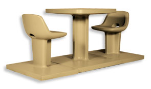Model SQ280 | Concrete Table Sets (Sand Tan)