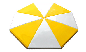 Model STM-4 | Valance Umbrella (Yellow/White)