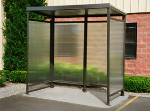 Model STS48DWKDOFB | Smoking Shelter | Flat Roof | Open Front