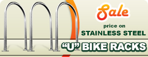Sale on Stainless U Bike Racks