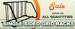 Sale on Single Sided Grid Bike Racks
