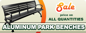 Sale on Aluminum Park Benches