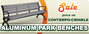Sale on Contempo-Crinkle Aluminum Park Benches
