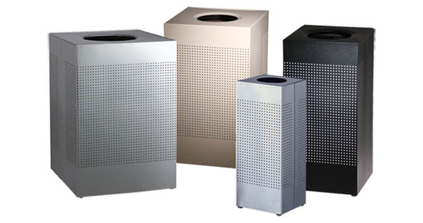 Silhouette Series Square Trash Cans