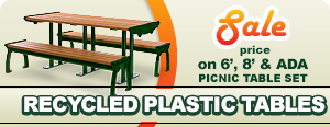 Recycled Plastic Picnic Tables with Aluminum Frame