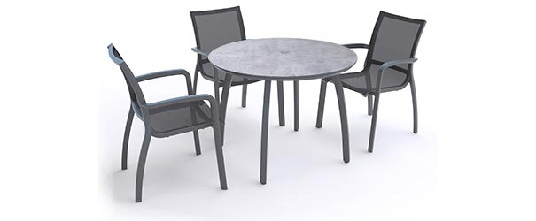 Round Cafe Tables Grosfillex Sunset Collection Belson Outdoors