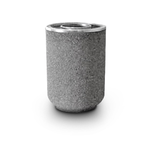 Model TCR-MP-S | Round Concrete Trash Receptacle with Ash/Trash Open Lid