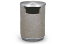 36 Gallon Concrete Trash Receptacle with Side Opening