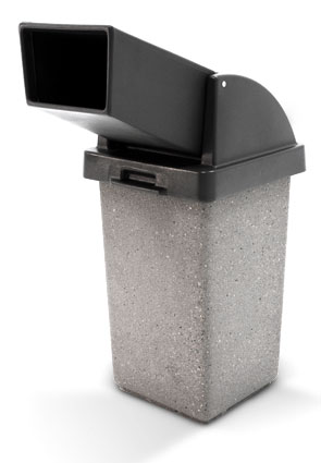 Model TF1021 | Concrete Trash Receptacle with Drive Thru Lid