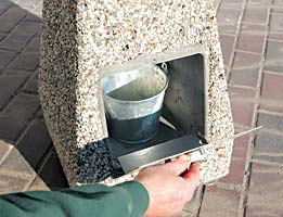Model TF2052 | Exposed Aggregate Smokeless Snuffer with Interior Waste Pail