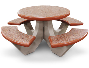 Commercial Round Concrete Picnic Tables
