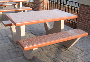 Model TF3226 | Concrete Picnic Table (Brick Red)