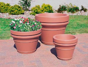 Model TF 4041 | Traditional Precast Concrete Planters (Brown)