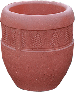 Model TF4228 | Concrete Planters (Brick Red)