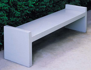 Model TF5025 | 6' Precast Concrete Bench (Gray)