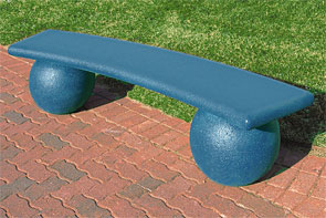 Model TF5140 | Precast Curved Concrete Sphere Bench (Soulard Green)