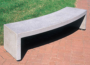Model TF5160 | Curved Concrete Bench (French Gray)