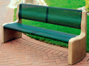 Model TF5966 | Metal-Armor Concrete Bench (Sand/Green)