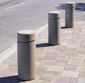 Precast concrete safety bollards belson outdoors - Decorative and safety bollards for your home ...