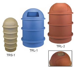 Polyethylene Trash Receptacles