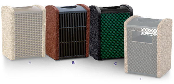 Thermoplastic and Aggregate Trash Receptacles Collection
