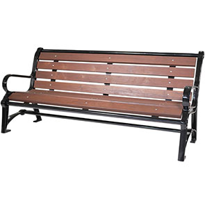 Model TZ6P | Terraza STyle Wood Bench with Backrest