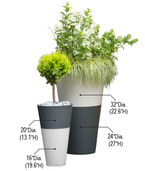 Tokyo Collection Stacking Planters