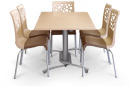 Tempo Stacking Chairs and Table Set
