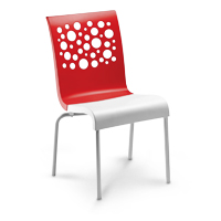 Tempo Stacking Chair (Red/White)
