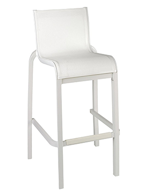 Sunset Collection Armless Barstool | (color) White Seat w/Glacier White Frame