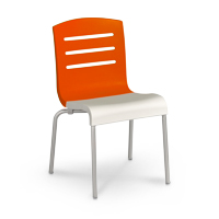 Model US041019 | Domino Stacking Chair (Orange/White)