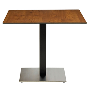 Model US63HP92 & Model US221209 | 36 Inch Square High Pressure Laminate (HPL) Table with Contemporary 22 Inch Square Pedestal Base
