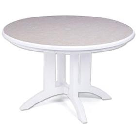 "Model US243104 | Aquaba 48"" Round Resin Table"