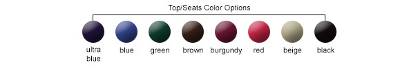 Top/Seats Color Options