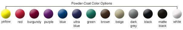 Powder-Coat Color Options