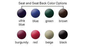 Seat and Seatback Color Options