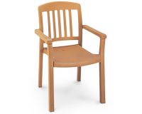 Model US442008 | Atlantic Resin Chair with Wood Style Finish (Teakwood Finish)