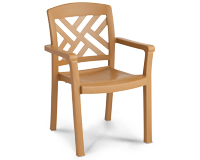Model US451408 | Sanibel Resin Chair with Wood Style Finish (Teakwood Finish)