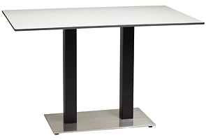 "Model US48HP44 & Model US281009 | 30"" x 48"" Rectangular Table Top with Pedestal Base"