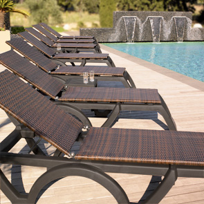 Java All Weather Resin Adjustable Chaise Lounges Belson
