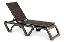 Java All-Weather Wicker Adjustable Chaise Lounges