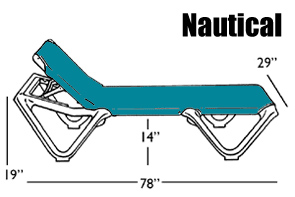 Dimensions for The Nautical Chaise Lounge