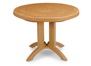 "Model US920008 | Atlantis Folding Café Table 38"" Round (Teakwood Finish)"