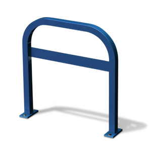 Model UX200-LB-SF-P | Extended Square U Commercial Bike Rack (Patriot Blue)