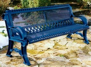 Model V6WB-P | Thermoplastic Coated 6' Villa Style Bench (Mariner)